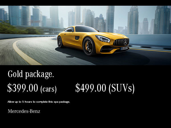 Gold auto spa package.