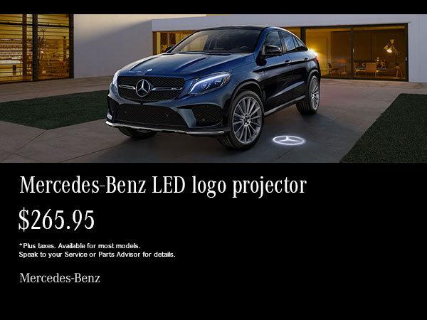 Mercedes-Benz LED projector.