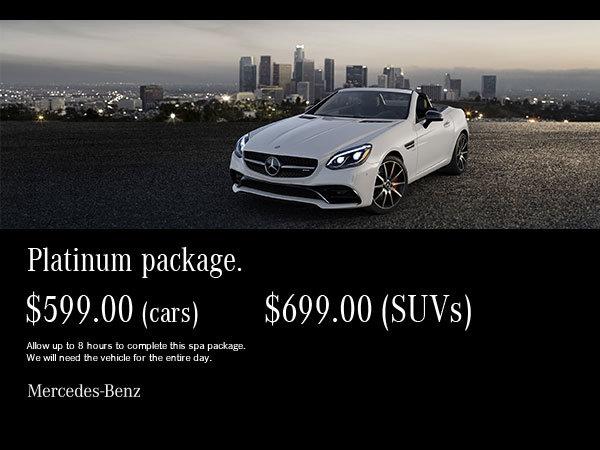 Platinum auto spa package.