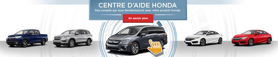 Centre d'aide Honda (banner)