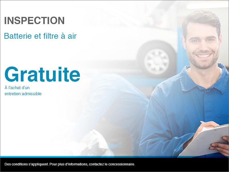Inspection de la  batterie et du filtre à air
